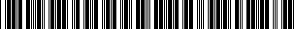 Barcode for WAP92200S3XL0F