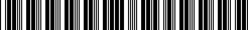 Barcode for 00004301000