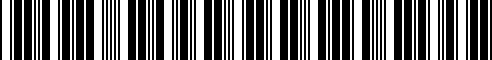 Barcode for 93020704501