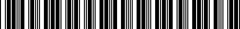 Barcode for 94810604905