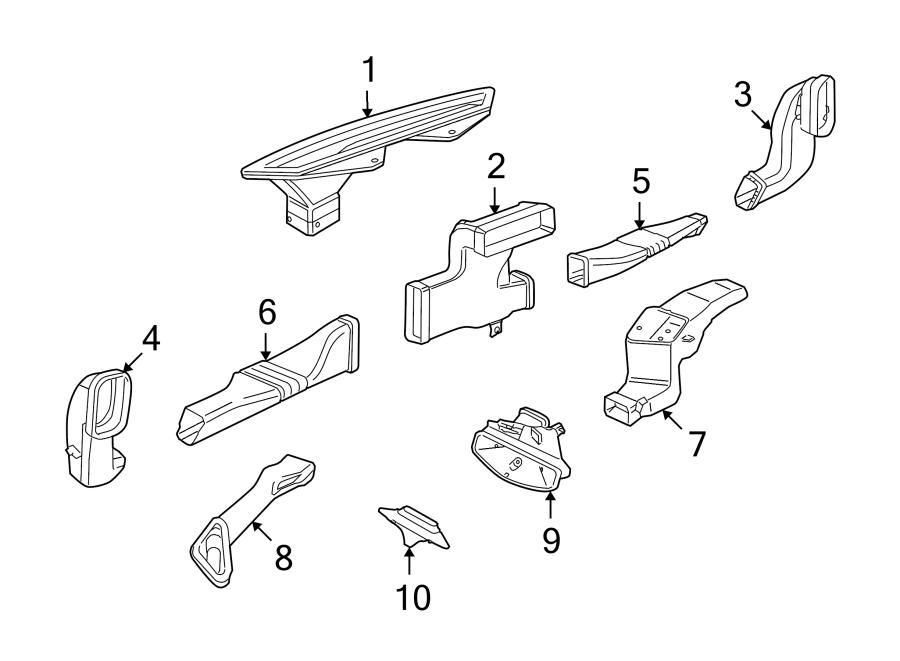 Porsche Cayman Instrument Panel Air Duct