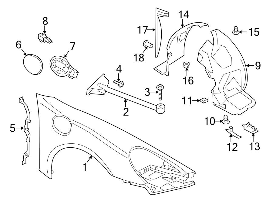 Porsche Cayman Radiator Support Air Deflector  Lower