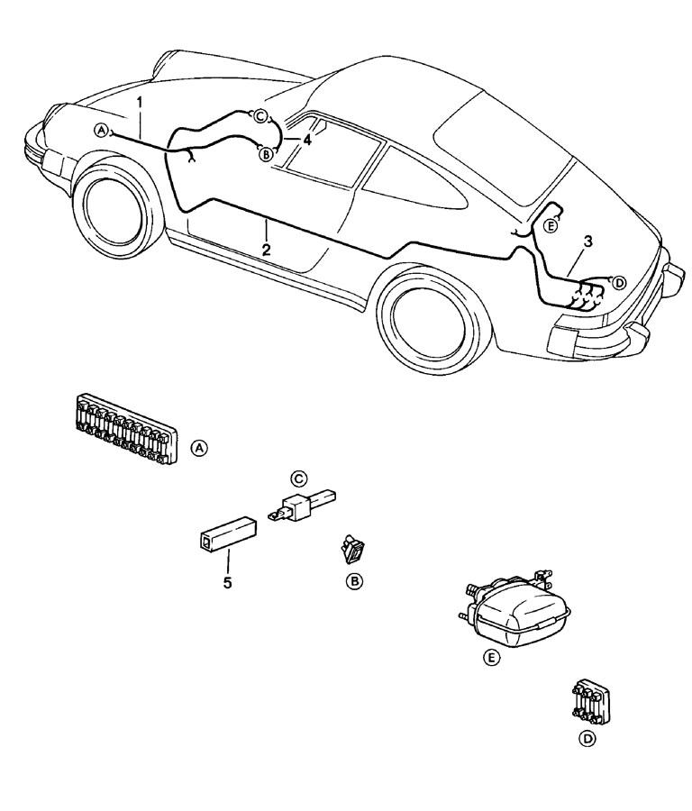 1979 Porsche 911 Wiring Harness Wiper Switch Tunnel Switch Rear Window Wiper