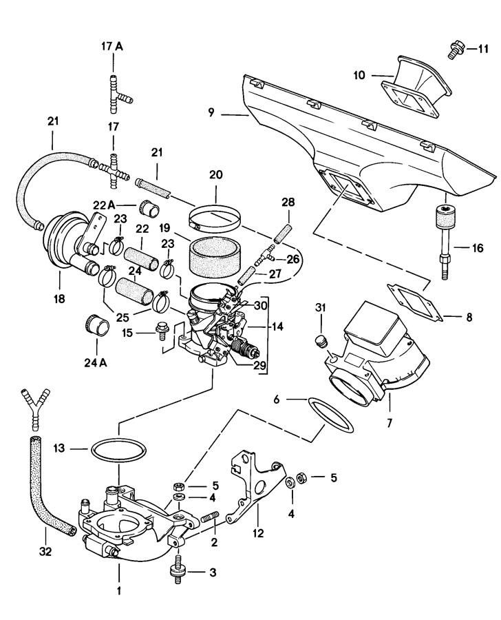 99970326100 - Porsche Bonded rubber mounting bonded rubber ...