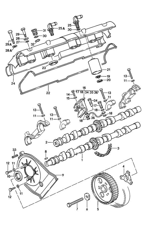 Porsche 928 Tapping Screw Pan