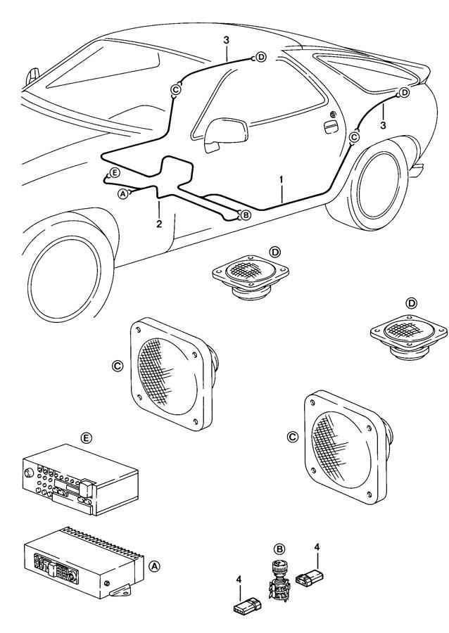 Porsche 928 Speaker Harness