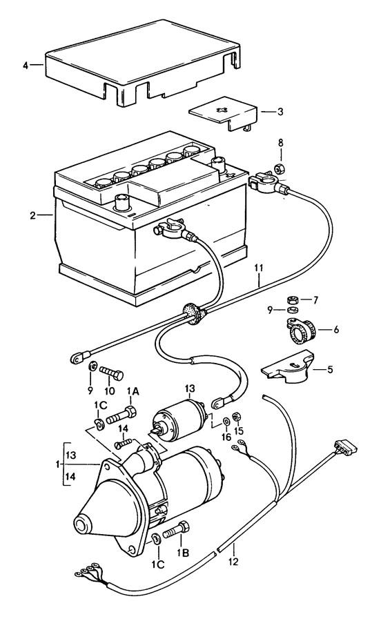 porsche 924 alternator wiring