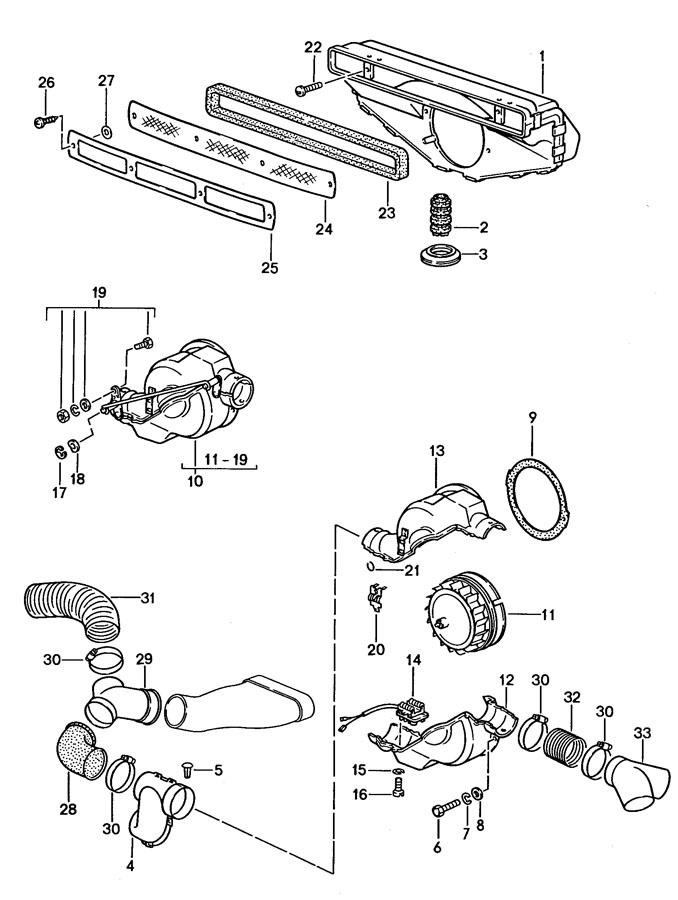 1987 porsche 911 turbo  gt2 ventilation heating system 1