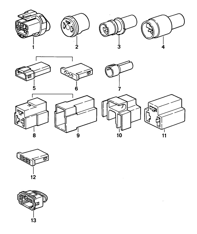 022906233b Porsche Connector Housing 3 Pole Plug Socket