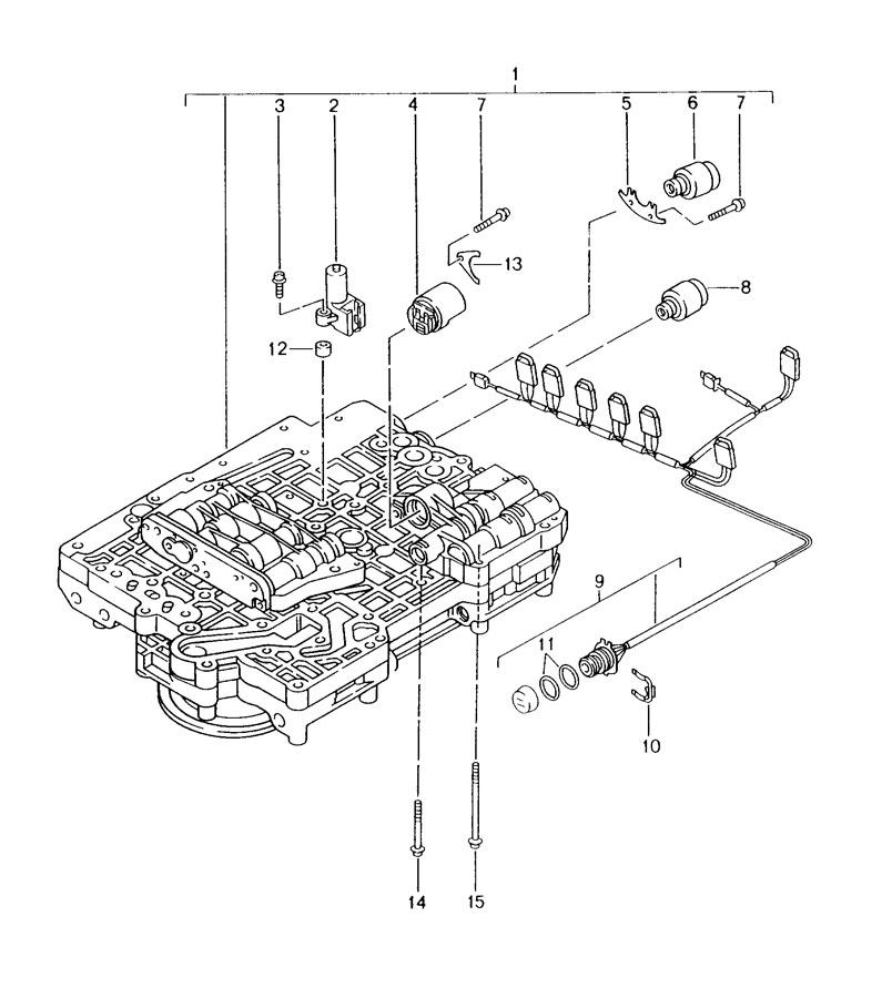 2002 porsche boxster type label transmission case switch