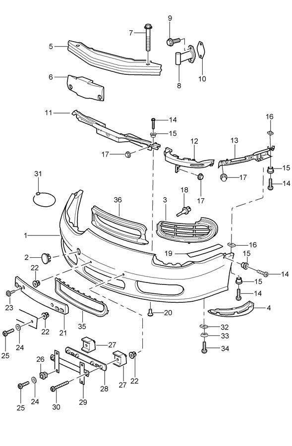 porsche 996 turbo parts diagram