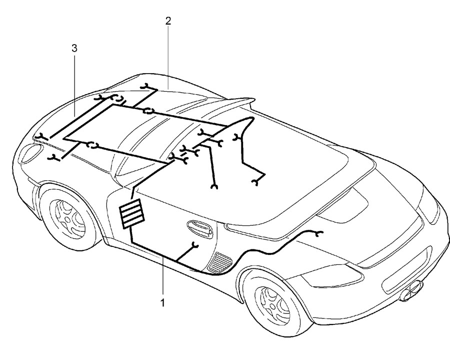 Porsche Boxster Cable Clamp  Seatbelt