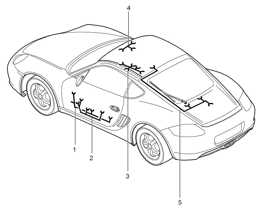 Porsche Cayman Wiring Harness Driver U0026 39 S Door Assembly Frame
