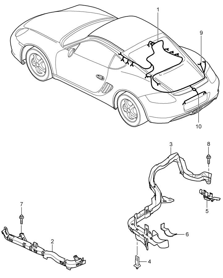 Porsche Wiring Harnesses Engine Rear End License Plate