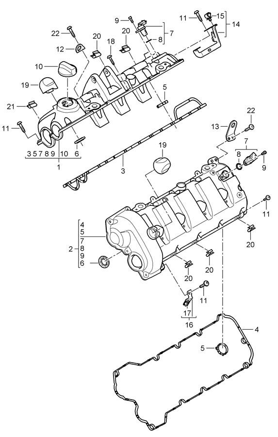 Porsche Cayenne Gasket Camshaft Actuator  Throttle Control Ele