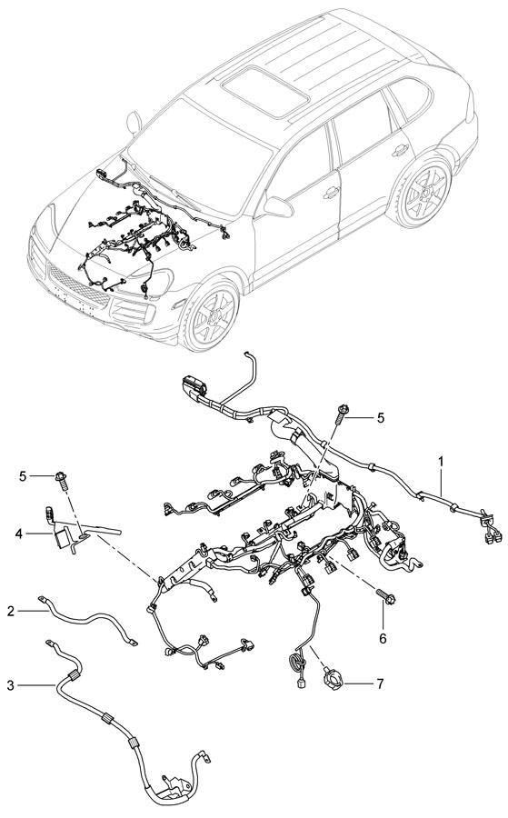 Porsche Cayenne Starter Cable