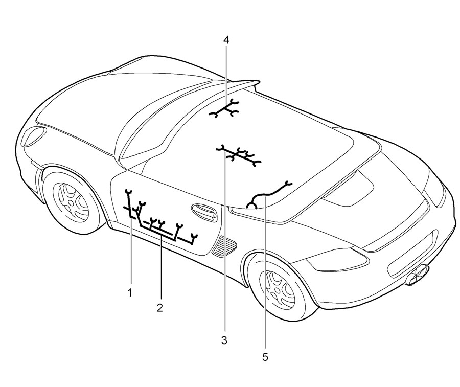 Porsche Boxster Wiring Harness Airbag