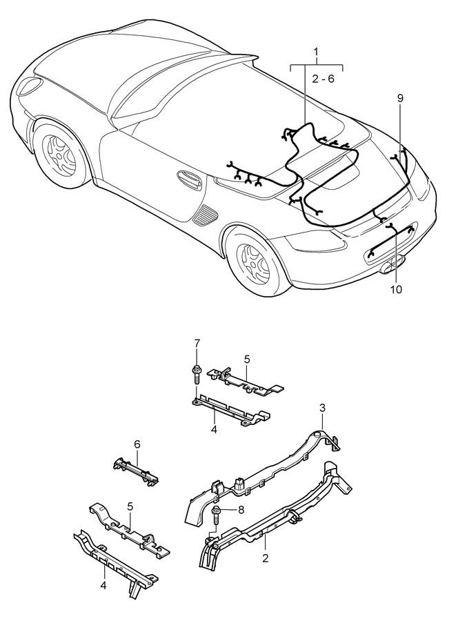 2009 Porsche Boxster Wiring Harness Sub