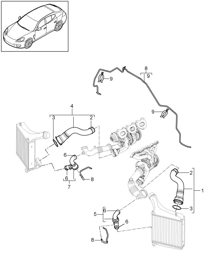 Porsche Panamera Turbocharger Intercooler Pipe