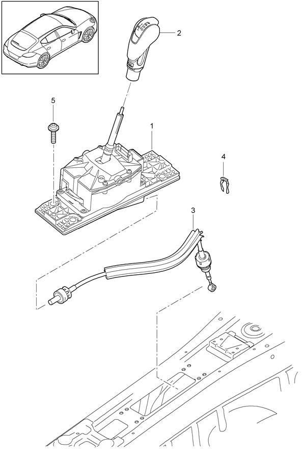 porsche panamera cable assembly kit