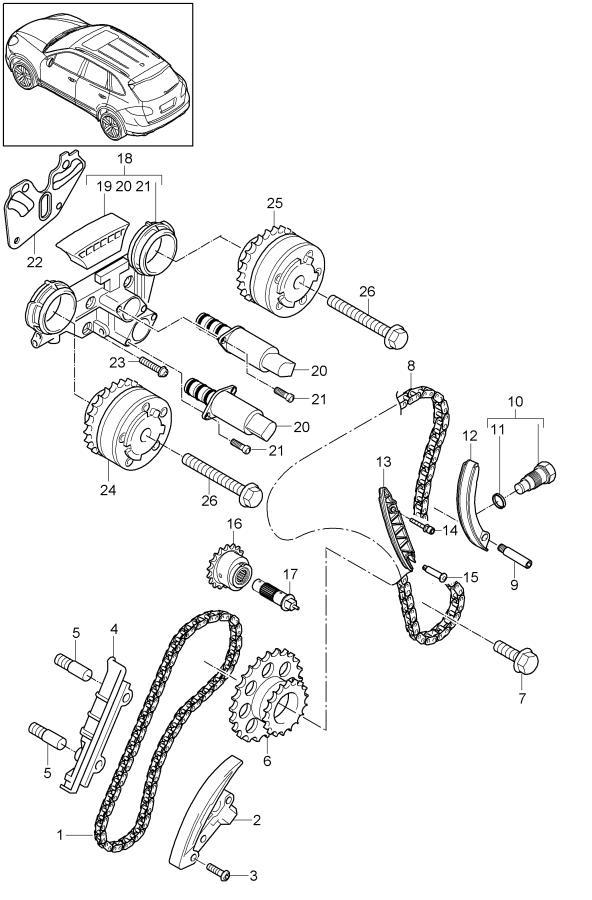 Porsche Cayenne Engine Timing Camshaft Sprocket. Cayenne; Exhaust - 95810505200 | Porsche Atlanta Perimeter, Atlanta GA