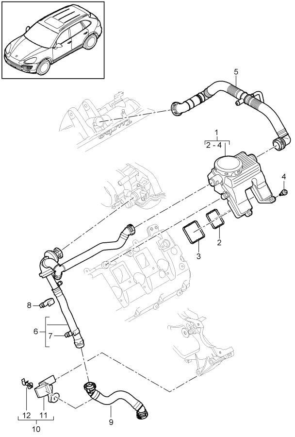 2015 Porsche Cayenne Air  Oil Separator  Bleeding  Airoil
