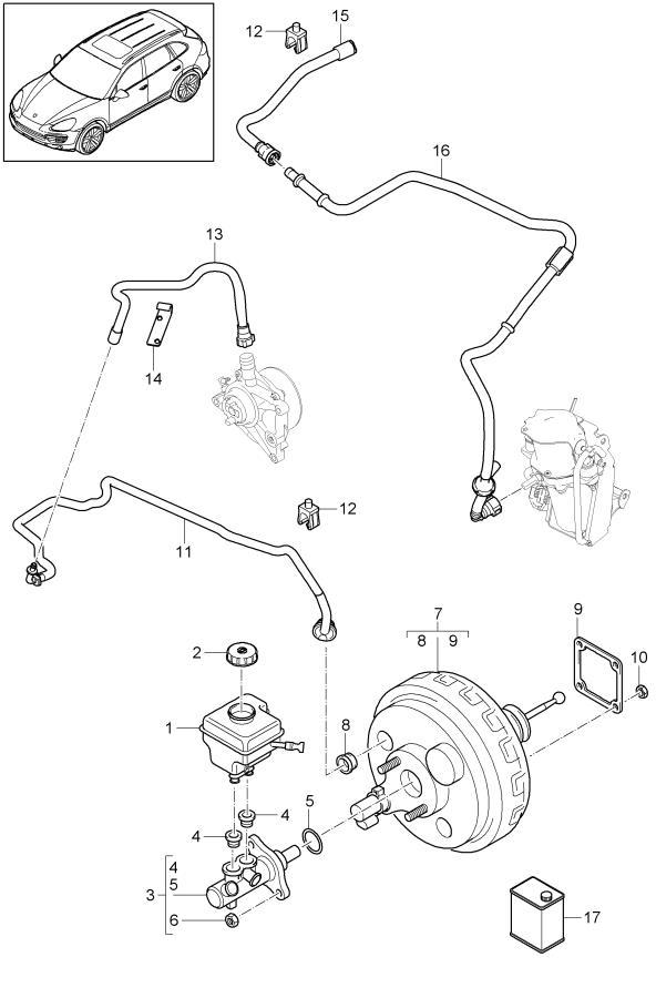 Porsche Cayenne Pressure Sensor 95835505107 Porsche