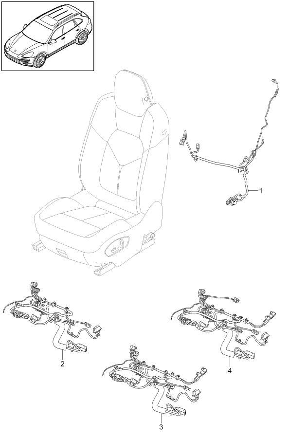 Porsche Cayenne Wiring Harness Seat