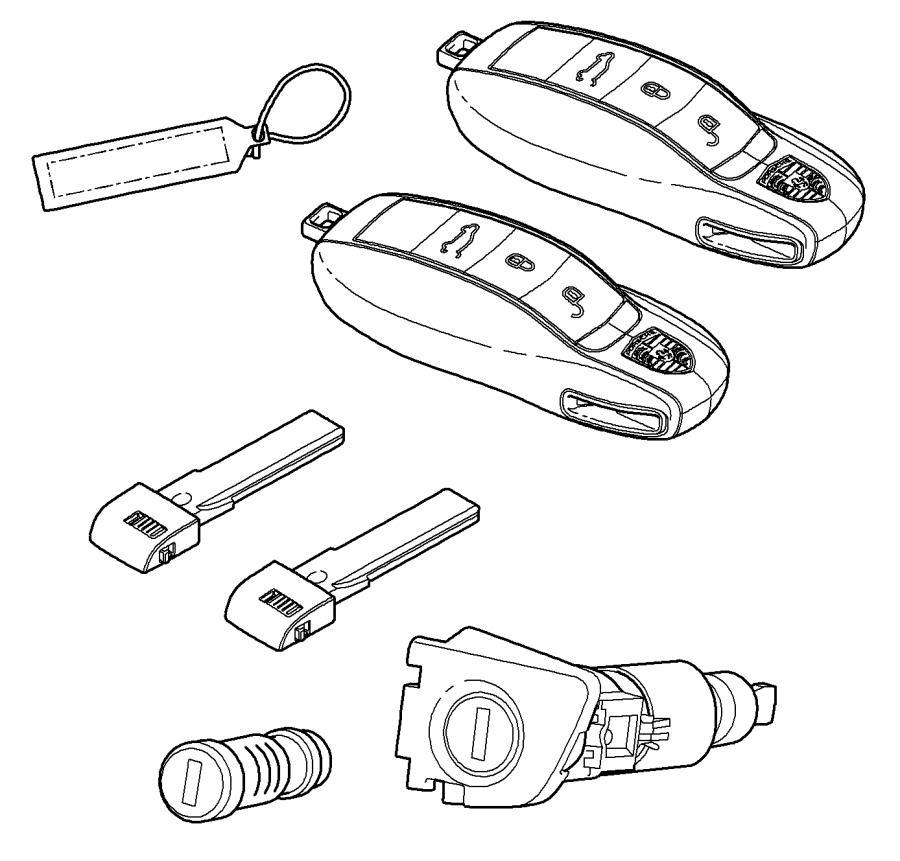 2013 Porsche Cayenne Repair Kits Set Of Locks Comprising