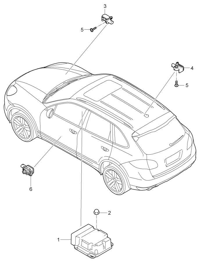 porsche cayenne control unit sensor airbag airbag unit see group switch airbag see group