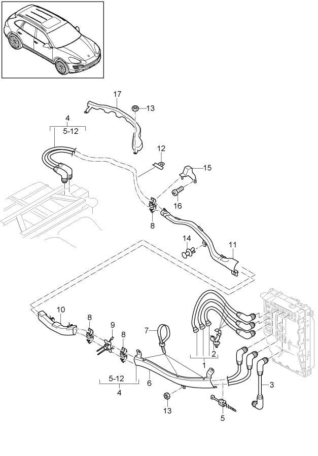 Porsche Cayenne Wiring Harness Power Electronics Battery