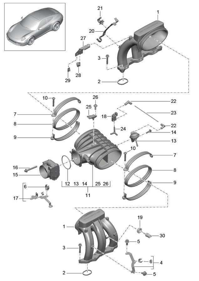 porsche 911 change-over valve  check  changeover