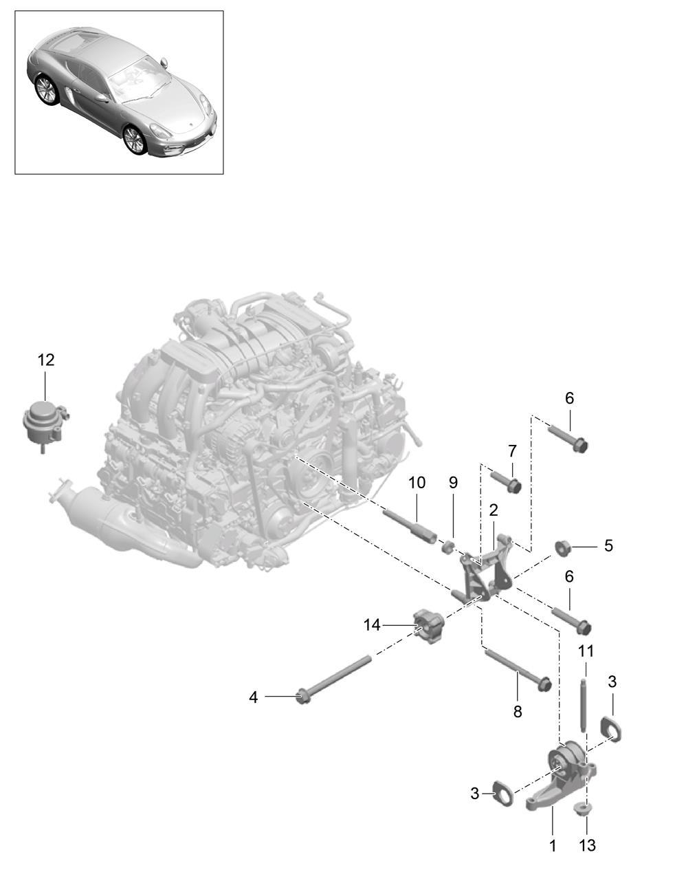 Porsche Cayman Engine Mount Spacer