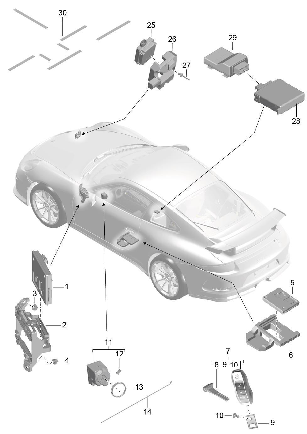 Porsche Cayenne Garage Door Opener Control Unit Distance