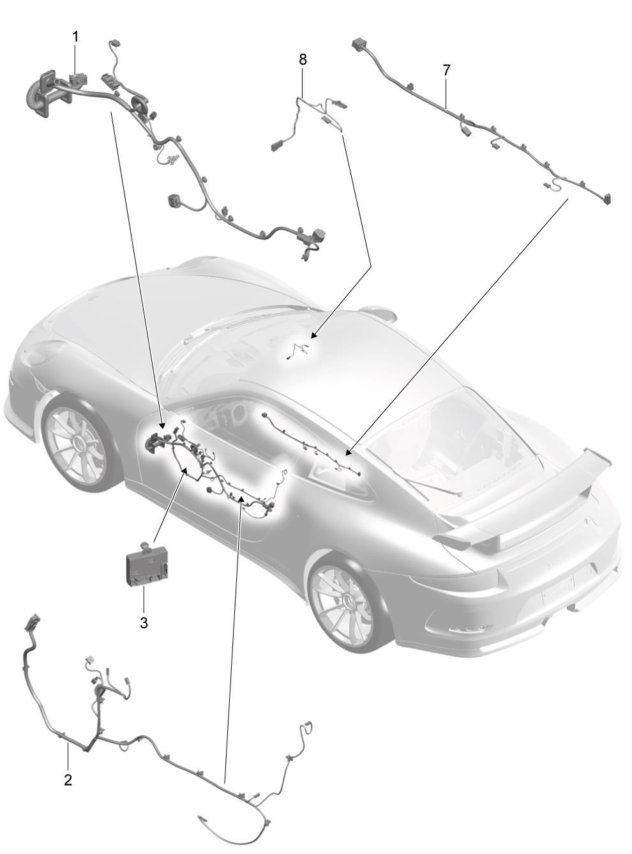 Porsche 718 Cayman Glove Box Light Connector