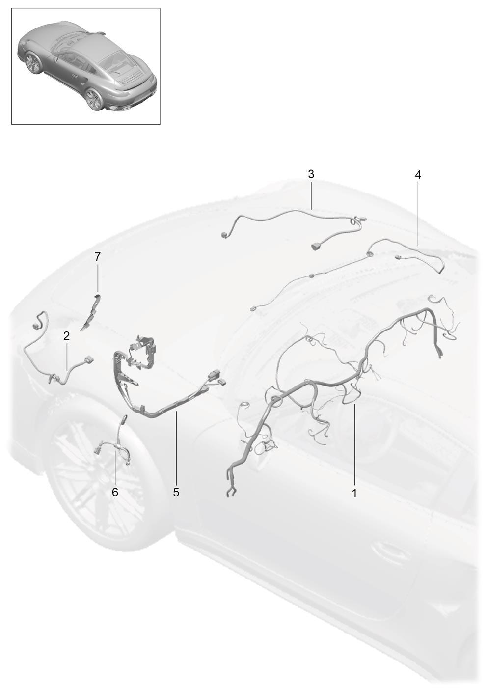 Porsche 718 Cayman Z Harness Electric