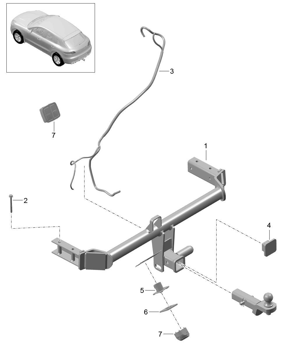 Porsche Macan Wiring Harness Trailer Coupling