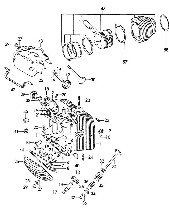 Porsche 356b  356c Cylinder With Piston Complete