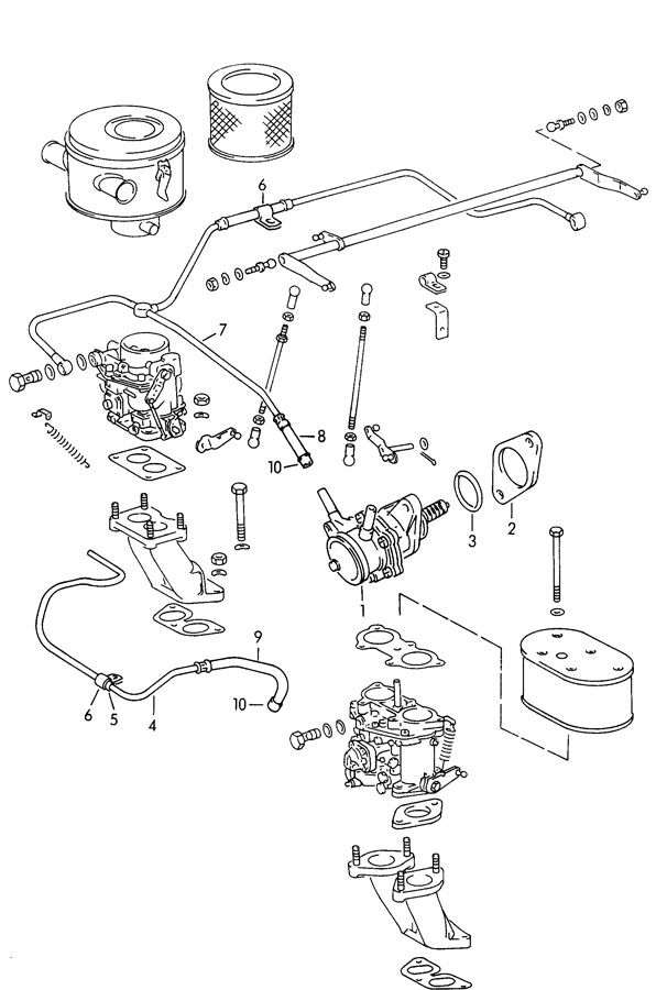 1965 Porsche 356b  356c Fuel Line