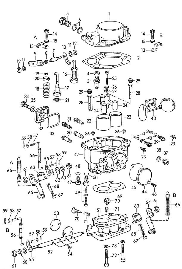 Porsche 356b  356c Hexagon Nut