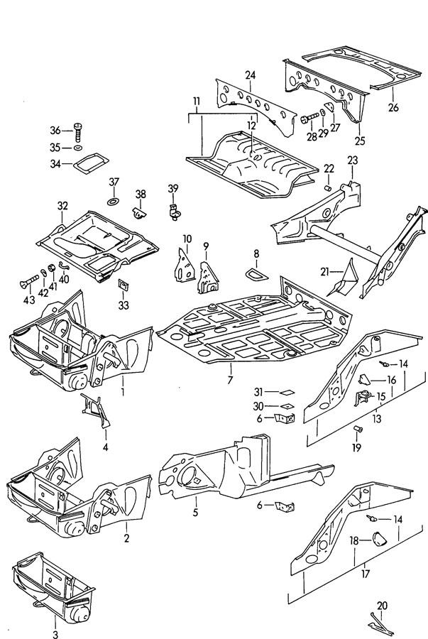 Porsche 356b  356c Engine Cover Engine Compartment Cover