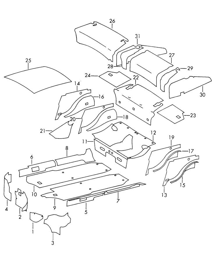 Porsche 912 For Engine Compartment Damping Mat  Pour Engine Compartm
