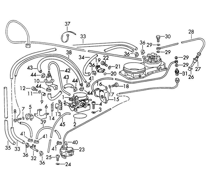 porsche 911 turbo  gt2 injection system with fuel line